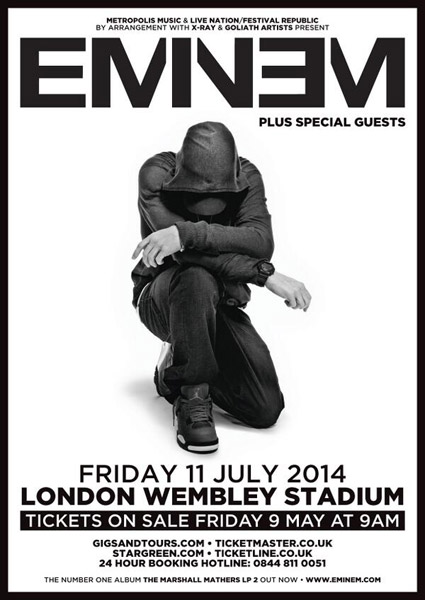 Read - Eminem to Headline Concert at Wembley Stadium